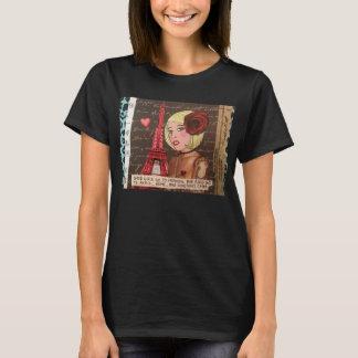よい女の子は天国に行きます。 悪い女の子はパリに…行きます Tシャツ