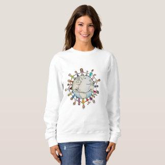 よい女性のスエットシャツのための力分野(新しい) スウェットシャツ
