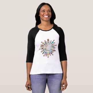 よい女性の野球のTシャツのための力分野 Tシャツ