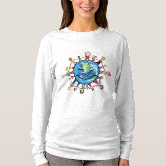 よい女性の長袖のTシャツのための力分野 Tシャツ