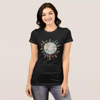 よい女性のTシャツ(新しいデザイン)のための力分野 Tシャツ