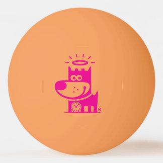 よい子犬のピンポン球。 オレンジのマゼンタ 卓球ボール