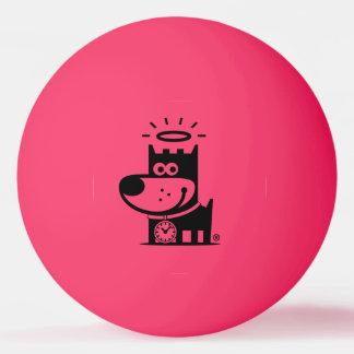 よい子犬のピンポン球。 マゼンタの黒 卓球ボール