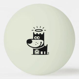 よい子犬のピンポン球。 暗闇の白熱 卓球ボール