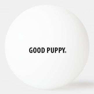 よい子犬のピンポン球。 白の黒 卓球ボール