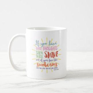 よい思考を有すればやる気を起こさせるなマグ| コーヒーマグカップ