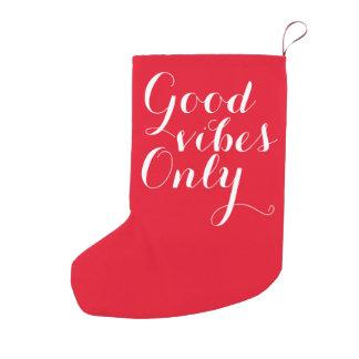 よい感情のカスタマイズ可能で白くおよび赤い幸せだけ スモールクリスマスストッキング
