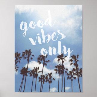 よい感情のビーチの感動的な引用文ポスターだけ ポスター