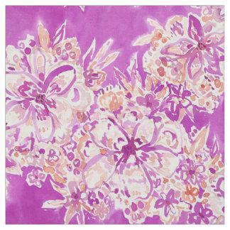 よい感情の野生の水彩画の花柄 ファブリック