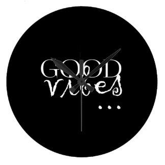 よい感情…文 ラージ壁時計