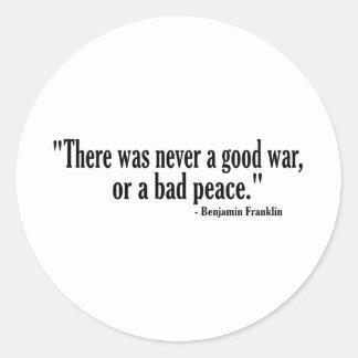 よい戦争の悪い状態の平和 ラウンドシール