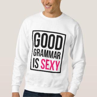 よい文法はセクシーです スウェットシャツ