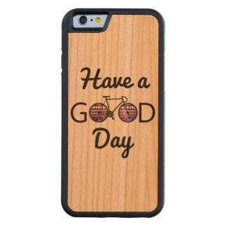 よい日を過して下さい CarvedチェリーiPhone 6バンパーケース