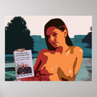 よい本が付いているStoweのカラフルなトップレスの女性 ポスター