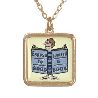 よい本へのおもしろいな暴露あなた自身 ゴールドプレートネックレス