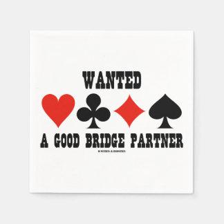 よい橋パートナーカードスーツ橋がほしいと思いました スタンダードカクテルナプキン