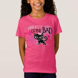 よい生意気な雑談による子猫によって悪くなるかわいい猫のティー Tシャツ