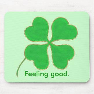 よい緑にシャムロックの感じること断言のmousepads マウスパッド