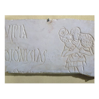 よい羊飼いのレリーフ、浮き彫りの墓碑銘 ポストカード