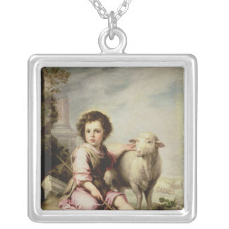 よい羊飼い、c.1650 シルバープレートネックレス