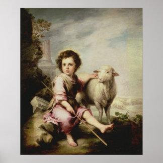 よい羊飼い、c.1650 ポスター