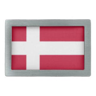 よい色のデンマークの旗のプリント 長方形ベルトバックル
