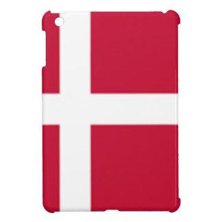 よい色のデンマークの旗のプリント iPad MINIカバー