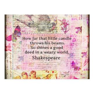 よい行為についてのシェークスピアの感動的な引用文 ポストカード