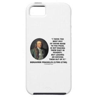 よい貧乏人をするベンジャミン・フランクリンの最も最高のな方法 iPhone SE/5/5s ケース