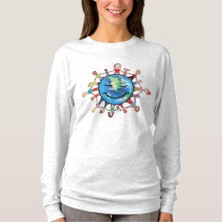 よい長袖の女性のTシャツのための力分野 Tシャツ