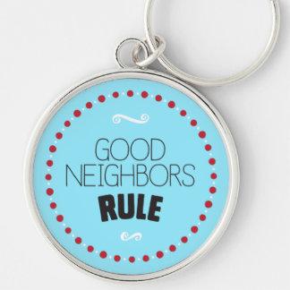 よい隣人の規則Keychain -青 キーホルダー