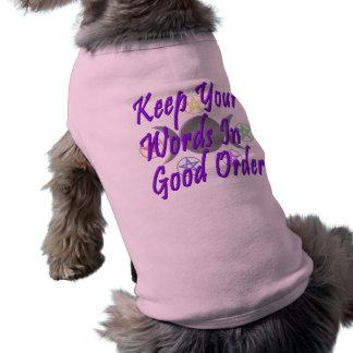 よい順序であなたの単語を保って下さい ペット服