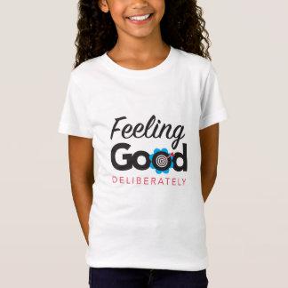 よい-女の子のTシャツを慎重に感じること Tシャツ