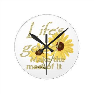 よいLIFES ラウンド壁時計