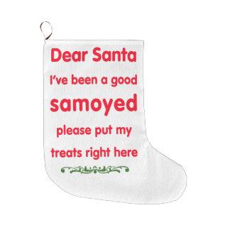 よいsamoyed ラージクリスマスストッキング