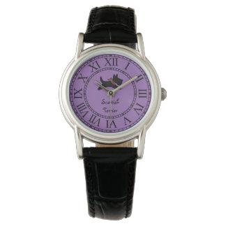 よくはしゃぐなスコッチテリア犬は個人化なります 腕時計