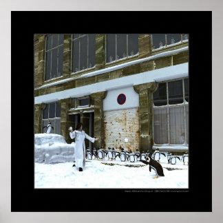 よくはしゃぐなペンギンの季節 ポスター