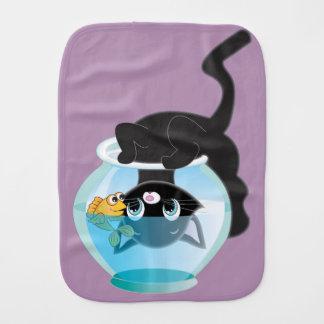 よくはしゃぐな漫画猫および魚ボール バープクロス