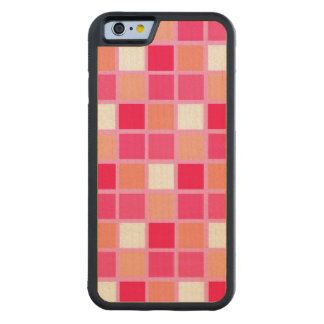 よくはしゃぐな道化師の口紅色のタイル CarvedメープルiPhone 6バンパーケース