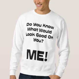 よく見るものをおもしろいな引用文知っています スウェットシャツ