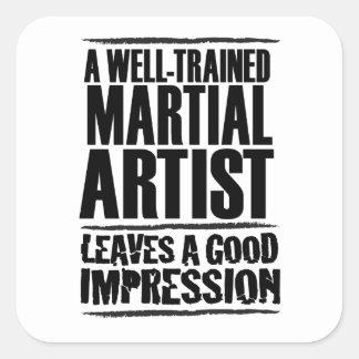 よく訓練された軍芸術家 スクエアシール