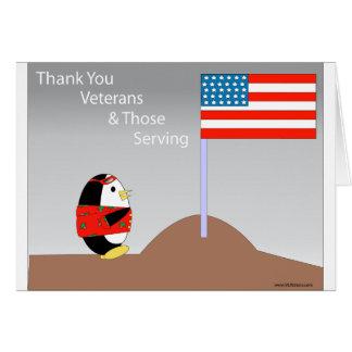 よたよた歩きの感謝の退役軍人カード カード
