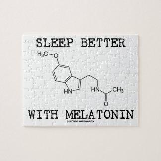 よの睡眠とMelatonin (化学分子) ジグソーパズル