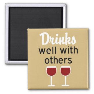 よの飲み物他と正方形の磁石 マグネット