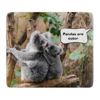 よりかわいいコアラかパンダか。 カッティングボード