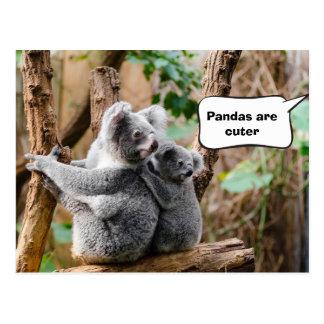 よりかわいいコアラかパンダか。 ポストカード