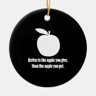 よりよいですあなたが与えるAppleは セラミックオーナメント