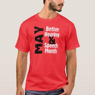 よりよいヒアリング及びスピーチ月 Tシャツ