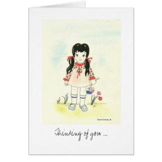 よりよい小さな女の子を感じること カード