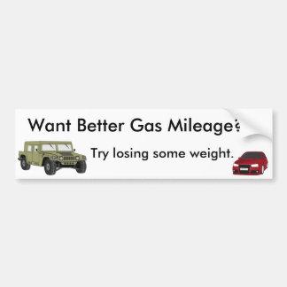 よりよい燃費効率がほしいと思って下さいか。 バンパーステッカー
